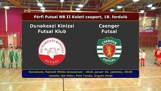 NBII: Dunakeszi Kinizsi - Csenger Futsal 6-4 (2018.01.26, összefoglaló)