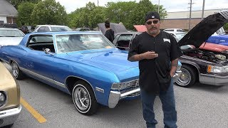 1968 Caprice 1970 Monte Carlo - Hooters Cars Show - What Low Riding Means Today