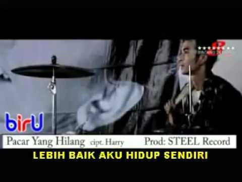Biru Band   Pacar Yang Hilang VC + Lyrics   YouTube