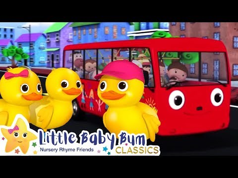 Cantec nou: 5 Little Ducks On a Bus Song - Nursery Rhymes and Kids Songs | Baby Songs | Little Baby Bum