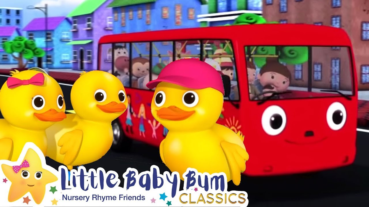 5 Little Ducks On a Bus Song - Nursery Rhymes and Kids Songs | Baby Songs | Little Baby Bum