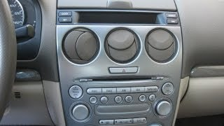 How to Remove Radio / CD Changer / Display from Mazda 6 2004 for Repair.
