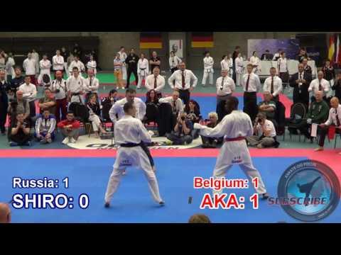 2017 JKA European Championship - Senior Men Team Kumite - semi finals