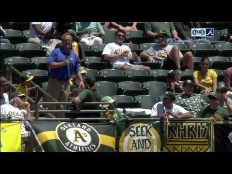 Paul Byrd has found the A's band … and a Chip Caray fan in the Oakland stands