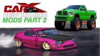CarX drift racing Mods PART 2 | Slammed Supra & Monster Ram
