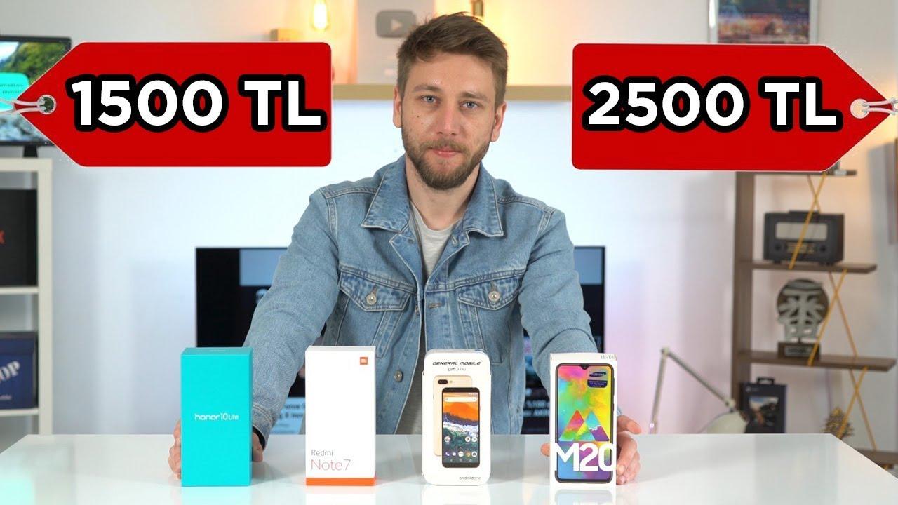 1500 - 2500 TL arası en iyi akıllı telefonlar 2019 - Hangisini almalı?