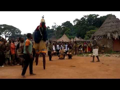 Stilt Dancer Village of Côte d'Ivoire (Ivory Coast), Part 2/4