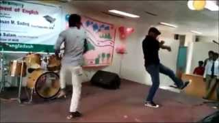 Asian university Bangladesh uttara campus boys dance video 2015