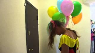 Поздравление клоунессой. Доставка цветов и подарков Новороссийск:www.podarok-nvr.ru(, 2014-07-03T21:48:19.000Z)