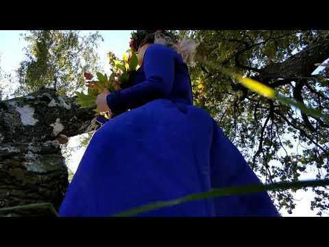Девушка в синим платье