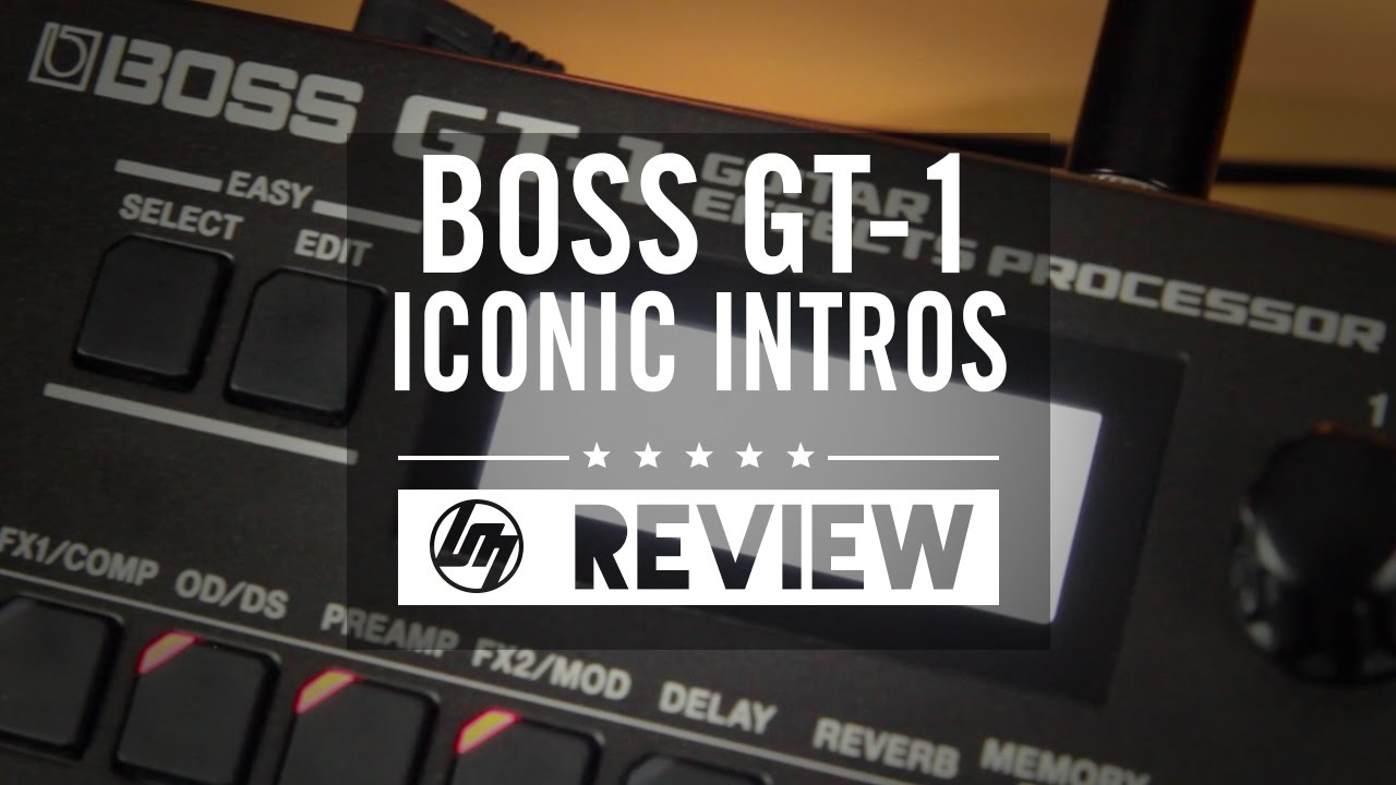 boss gt 1 iconic intro patches tutorial better music youtube. Black Bedroom Furniture Sets. Home Design Ideas