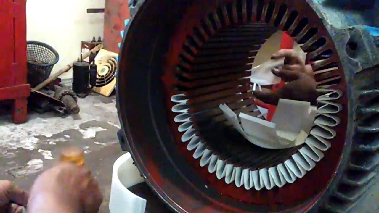 Cara rewinding elektromotor 3 phasa Part 1 - YouTube