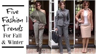 How I Style 5 Top Fall/Winter 2016 Fashion Trends