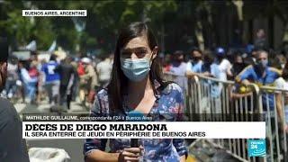 Décès de Diego Maradona à 60 ans : veillée funèbre en Argentine