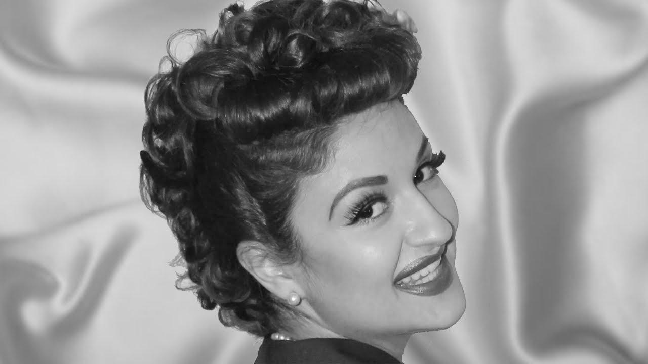 Lucille Ball Inspired Hair Tutorial For Long Hair Youtube