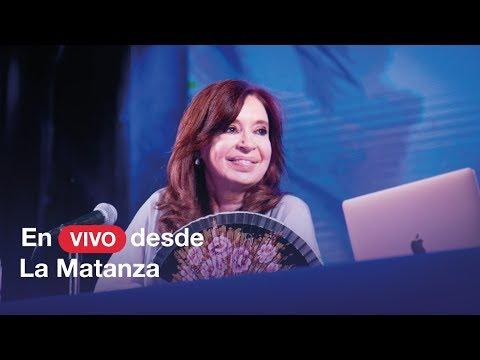 Cristina Kirchner presenta Sinceramente en La Matanza