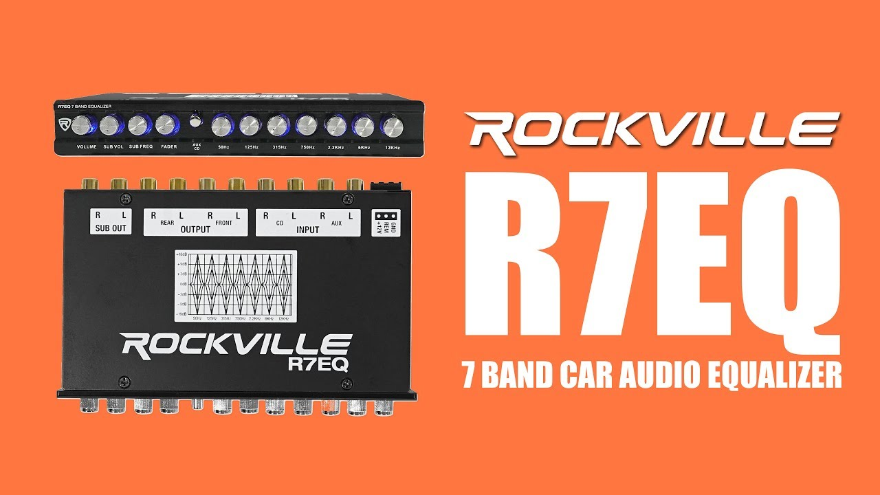 DEMO Rockville R7EQ 7 band Car Audio Equalizer