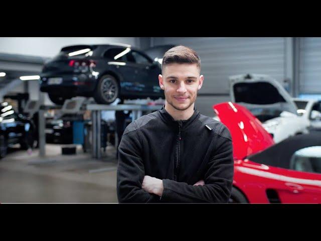 Interview // Axel VINCENT (Technicien en alternance Porsche Institut)