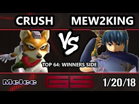 GENESIS 5 SSBM - Crush (Fox) VS FOX MVG | Mew2King (Marth) - Smash Melee Top 64 Singles