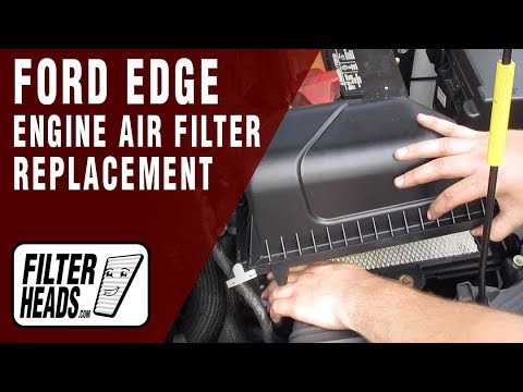 How to Replace Engine Air Filter 2009 Ford Edge V6 3.5L