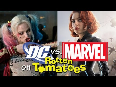 Marvel vs. DC on Rotten Tomatoes