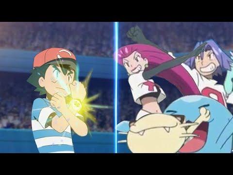 Pokemon Battle USUM: Ash Vs Team Rocket Pokémon Alola League Face Off!