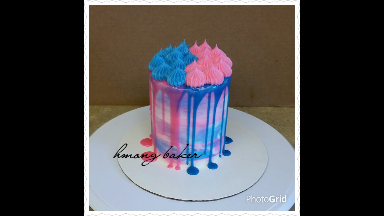 GENDER REVEAL CAKE Baby Shower Cake Cake Decorating