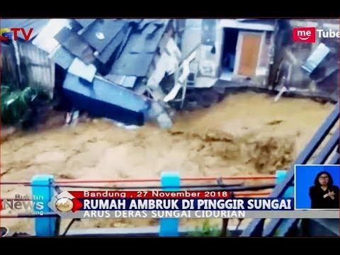 Video Amatir Rumah Longsor Diterjang Derasnya Sungai Cidurian, Bandung - BIS 27/11