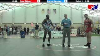 Drew Phipps vs. Armani Robinson at 2013 FILA Cadet Nationals - FS