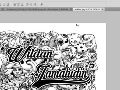 Cara Membuat Doodle Art Keren Dengan Photoshop Wildan Jamaludin