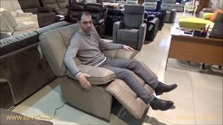 Кресло-глайдер Прецо с электрореклайнером в видео обзоре от Бенцони