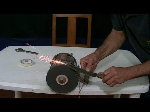 Como hacer un afilador de cuchillos motor de lavadora - Como hacer soporte para cuchillos ...