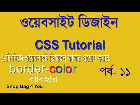 CSS BANGLA TUTORIAL FOR BEGINNERS |USE 6 TYPE CSS COLOR IN WEBSITE DESIGN | CSS VIDEO PART 11 thumbnail