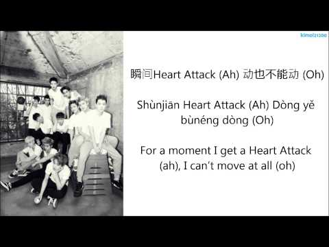 EXO-M - Heart Attack [Chinese/PinYin/English] Color Coded HD
