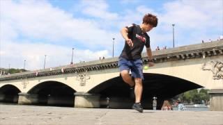 プロフットバッグプレイヤー石田太志 in Paris