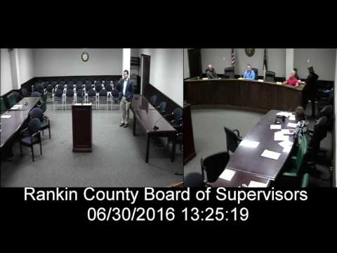 [2 of 2] Rankin County, MS Board of Supervisors meeting on date: 6/30/2016