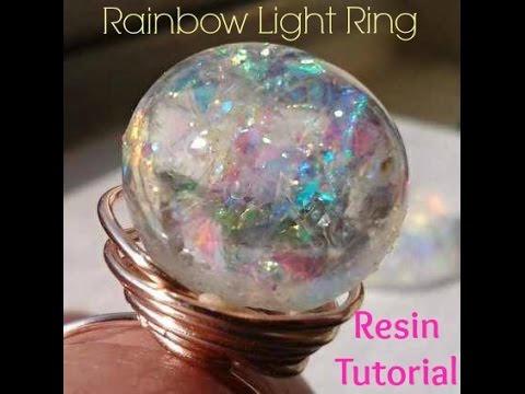 Resin: Rainbow Light Ring