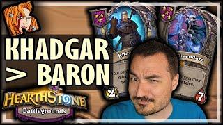 KHADGAR OVER BARON?! - Hearthstone Battlegrounds