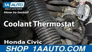 How To Install Replace Coolant Thermostat 1992-1998 Honda Civic 1.6L