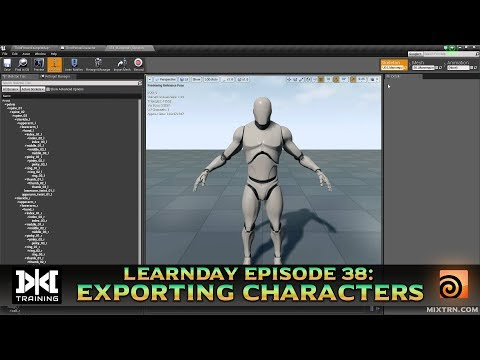 LearnDay Episode 38: Exporting Characters to Unreal Engine 4