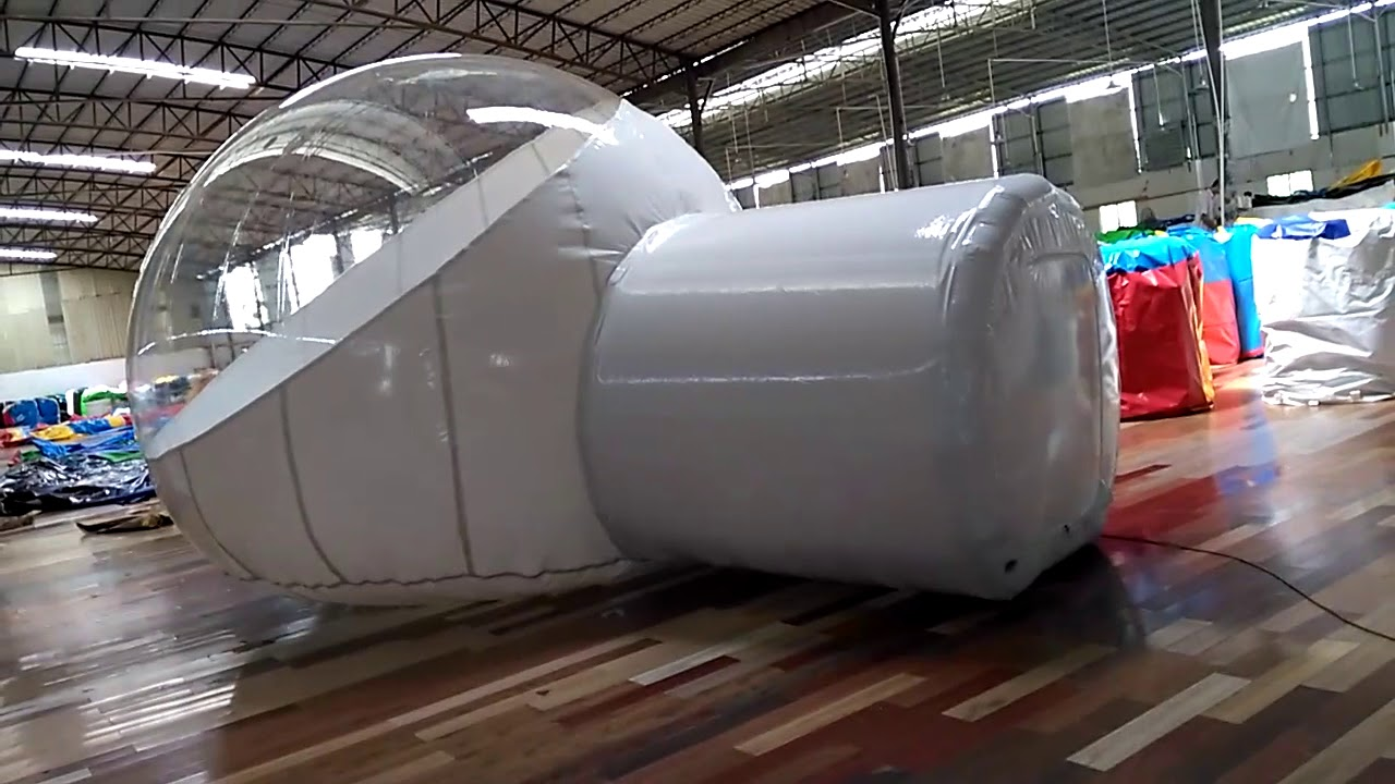 Big Inflatable Clear Bubble Tent With 2 Rooms & Big Inflatable Clear Bubble Tent With 2 Rooms - YouTube