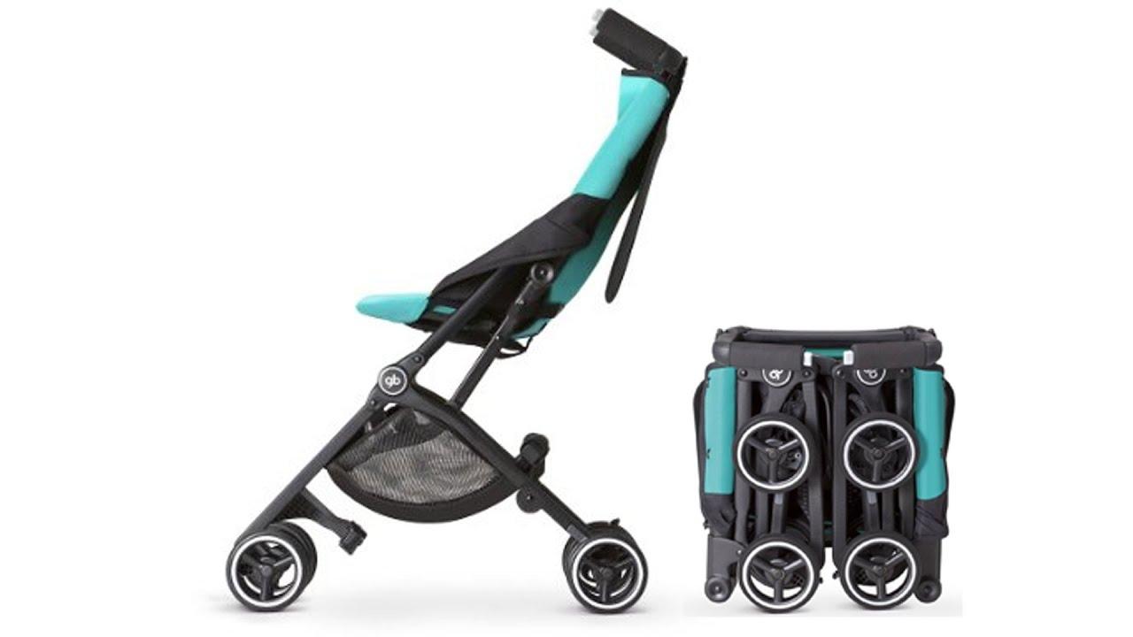 gb pockit stroller folding demo youtube. Black Bedroom Furniture Sets. Home Design Ideas