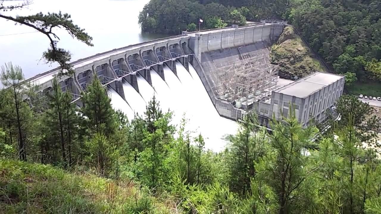 Allatoona Dam Flood Gates Youtube