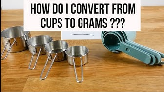 How many grams are in one cup? | Baking conversion 101