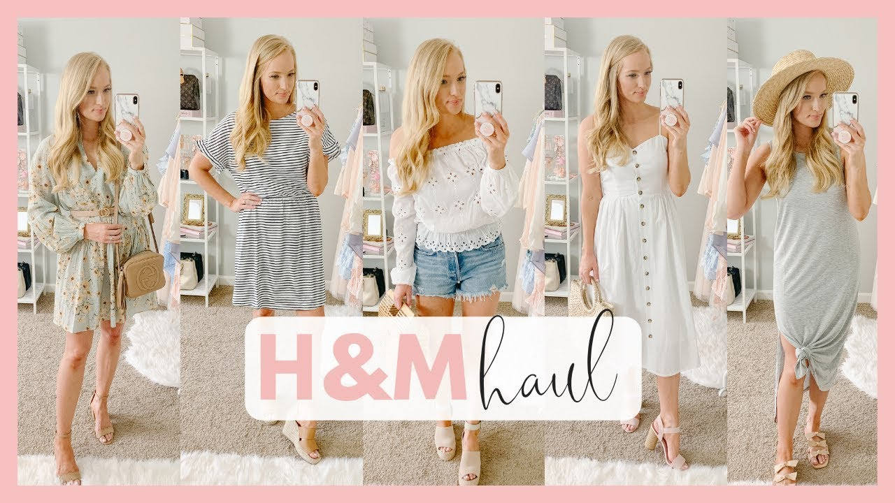 AFFORDABLE SUMMER OUTFITS 2019   H&M CLOTHING TRY ON HAUL   Amanda John 6