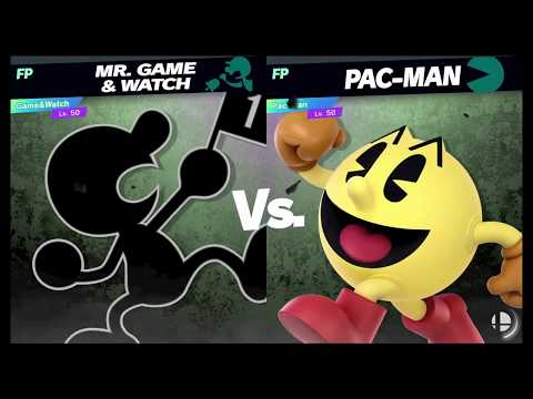 Super Smash Bros Ultimate Amiibo Fights Request #898 Mr Game & Watch vs Pac Man