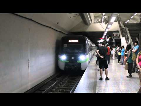 Athens Metro New Rotem EMU on test run