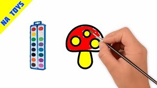 How To Draw Mushroom | Mushroom Coloring Pages For Kids