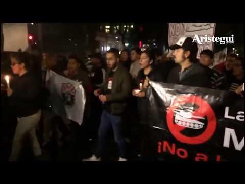 Diego Luna encabeza marcha al Senado contra Ley de Seguridad Interior