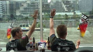 German football fans head to Euro tie vs Poland by boat